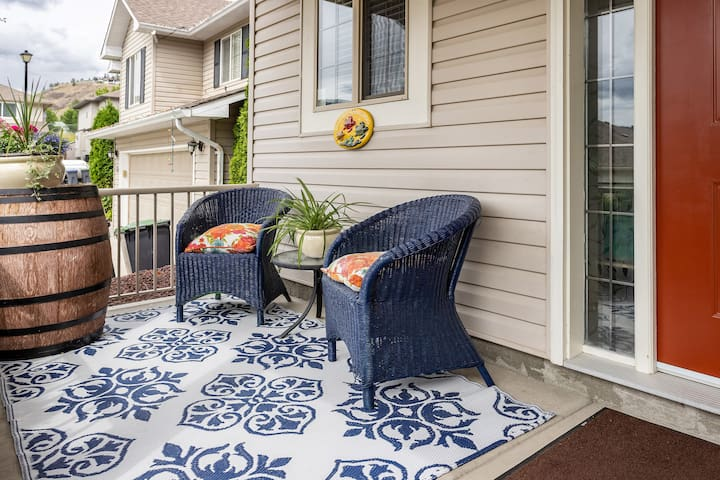 Our front porch awaits you and your morning cup of coffee!