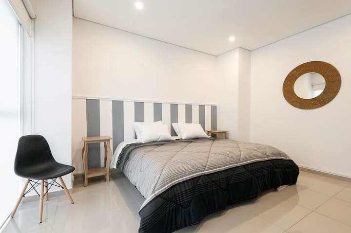 NEW spacious beautiful loft King bed Best location
