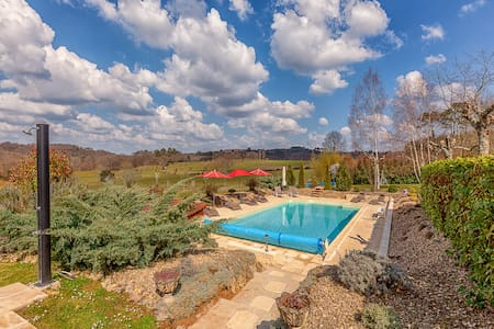 Luxury Villa with Heated Pool, Jacuzzi, Gym, Sauna - Sarlat-la-Canéda