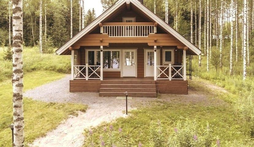 Lovely modern log cabin on a lake