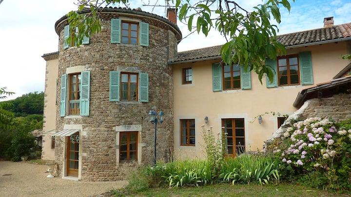Chambre romantique en maison d'hote en Beaujolais