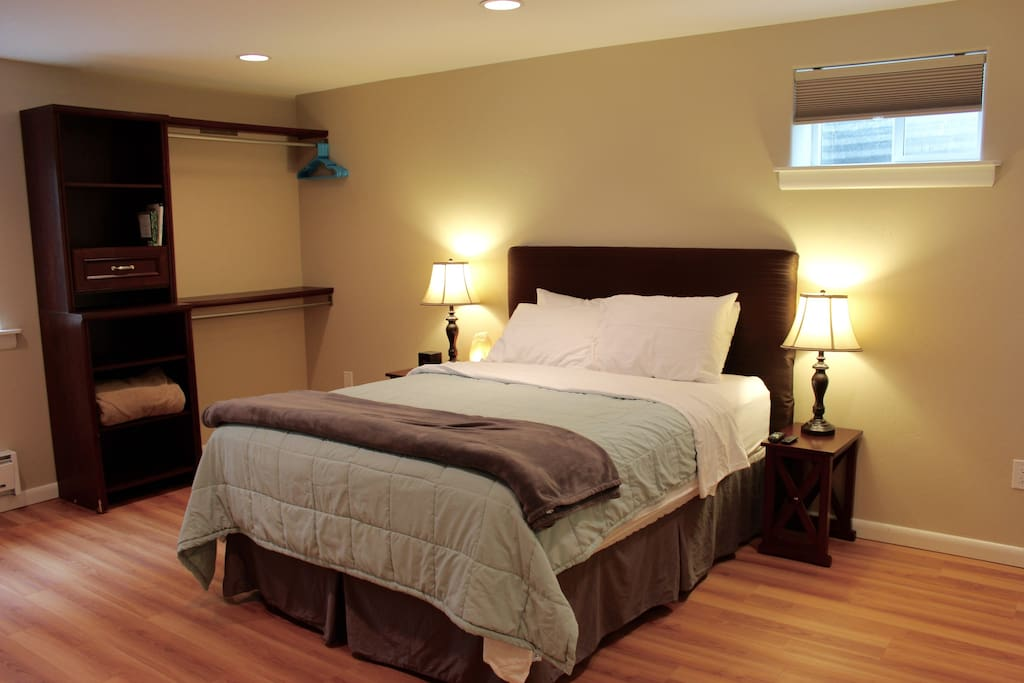 Spacious and cozy master bedroom with on suite master bath.