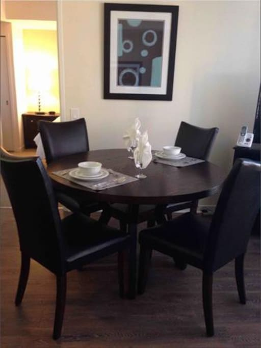 Dining area with seating for 4, where you can dine in comfort.