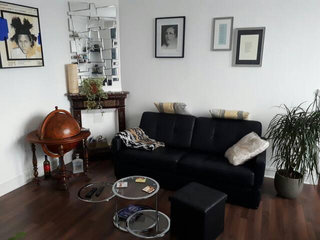Grande chambre dans un appartement douillet