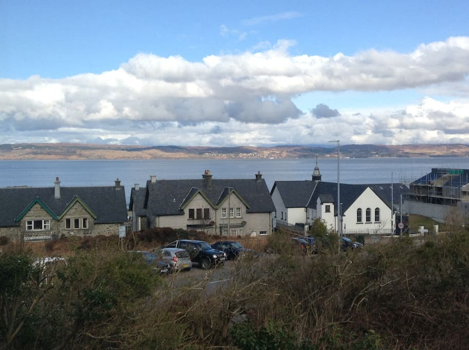 Looking out to the Isle of Skye - view from the room