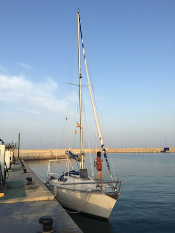 Valencia sailing boat