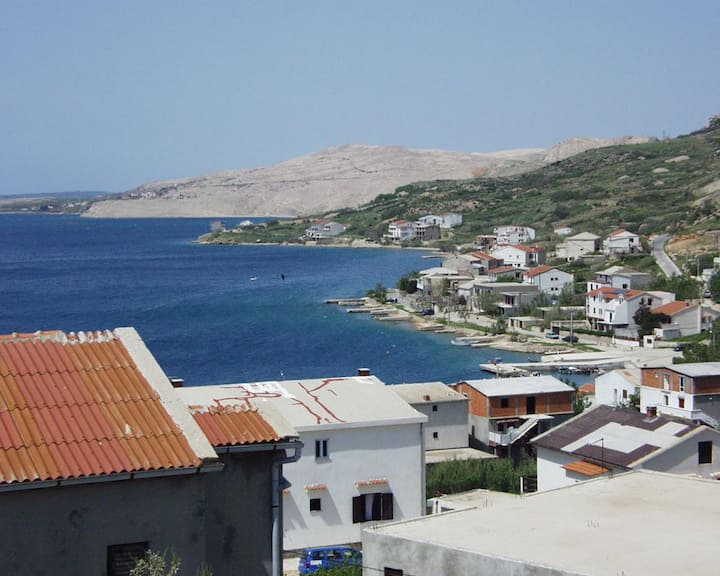 One bedroom apartment with terrace and sea view Metajna, Pag (A-525-c)