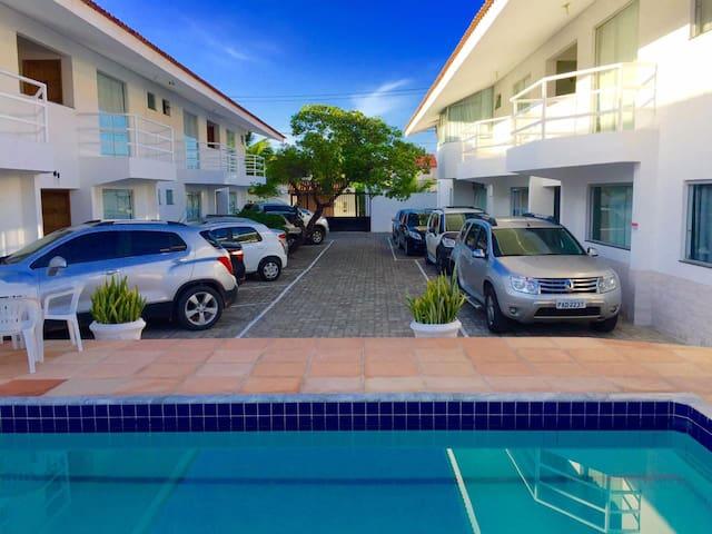 Beverly Hills Flat na Praia de Taperapuã