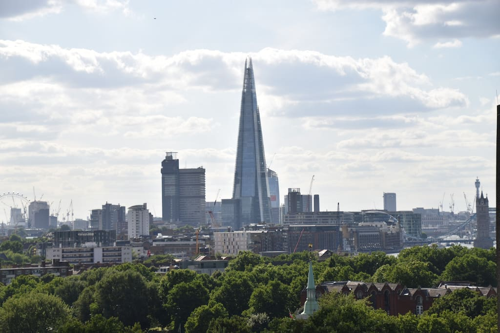 View of the Shard from the winter garden/balcony
