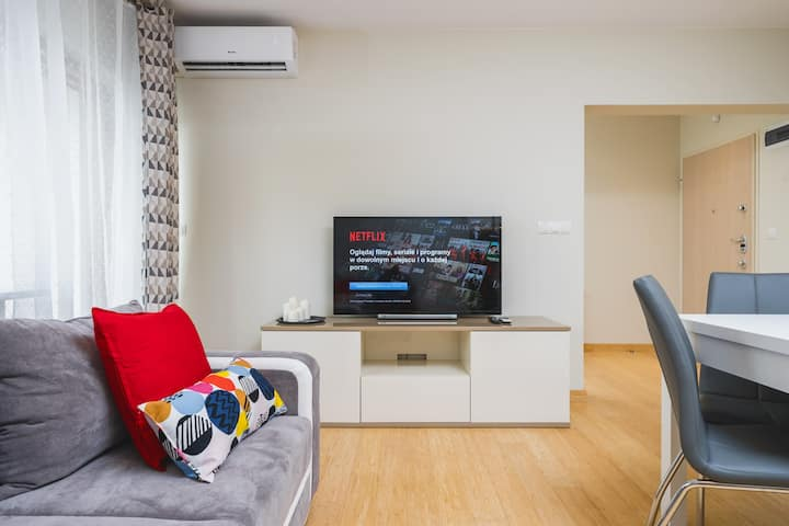 Modern apartment with balcony and air-con