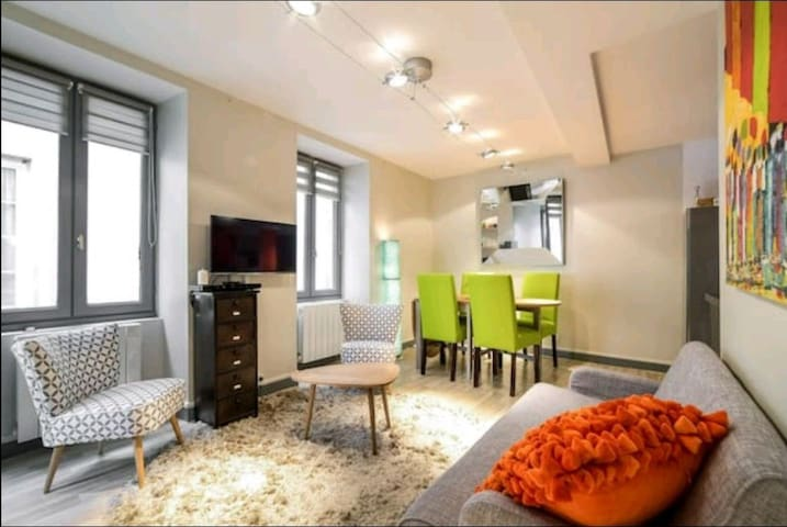 Cosy Appartement T3 51m2 INTRA MUROS Super équipé.