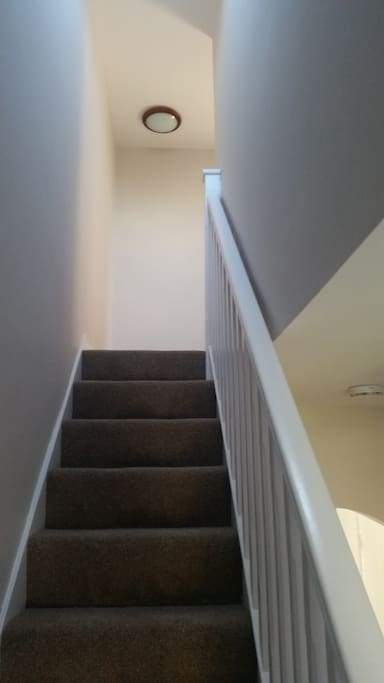 Private staircase to ensuite  room
