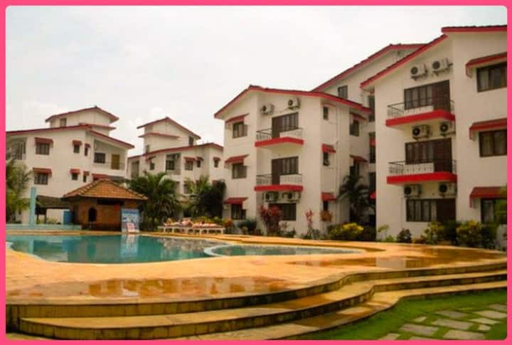 Upen's Goa Retreat -1bhk Resort apt Baga