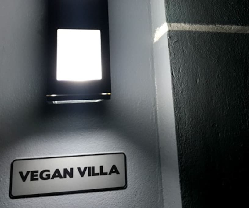Vegan Villa at night