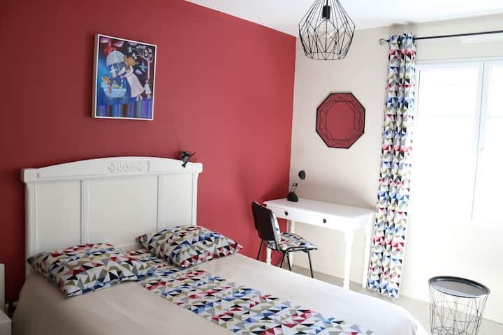 Suite deux chambres avec SDE privative