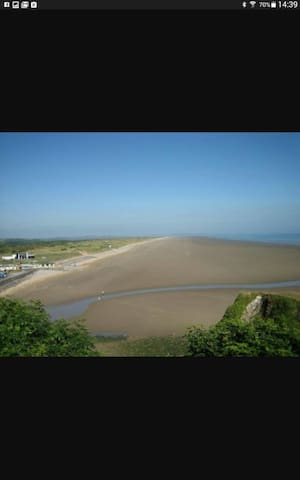 Pendine beach view from cliff