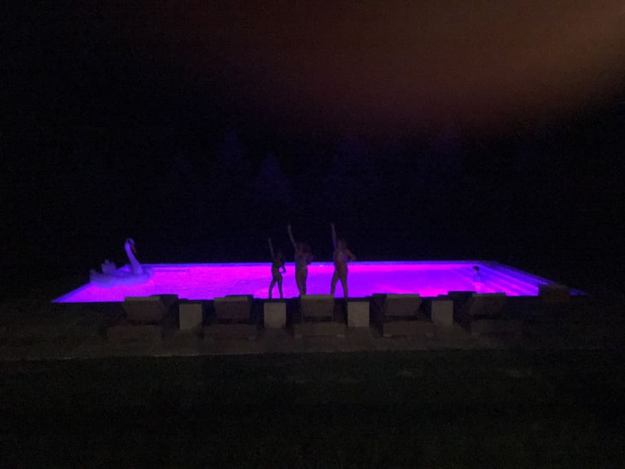 LED lights in Pool