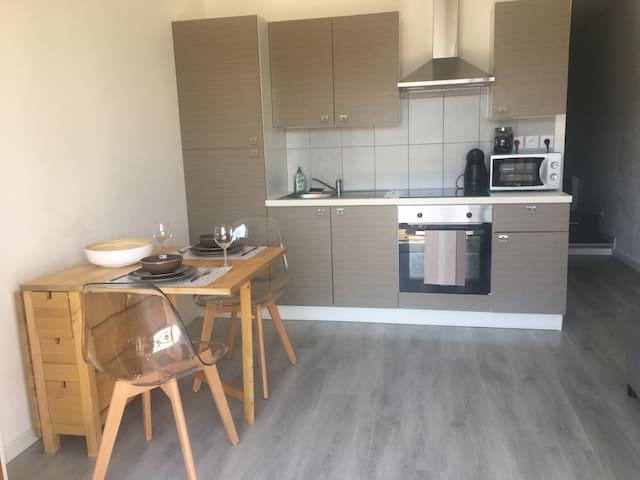 appartement 30m2 4 couchages avec jardin