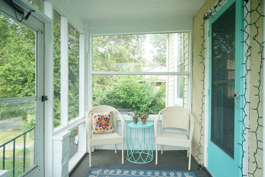 Front Porch - perfect for morning coffee