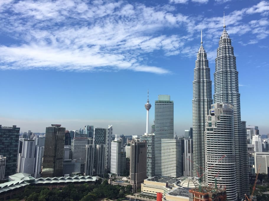 View of KL skyline from the unit