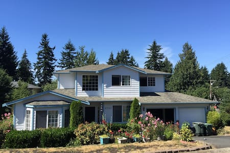 Comfortable room in Seattle suburb, close to beach - Edmonds - Casa