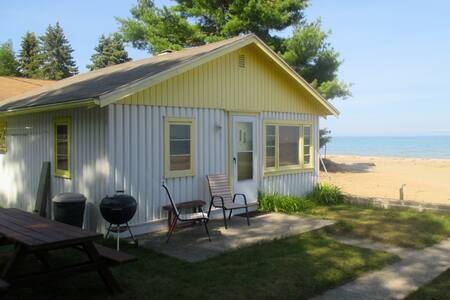 Beach front Cabin #1 on Lake Huron