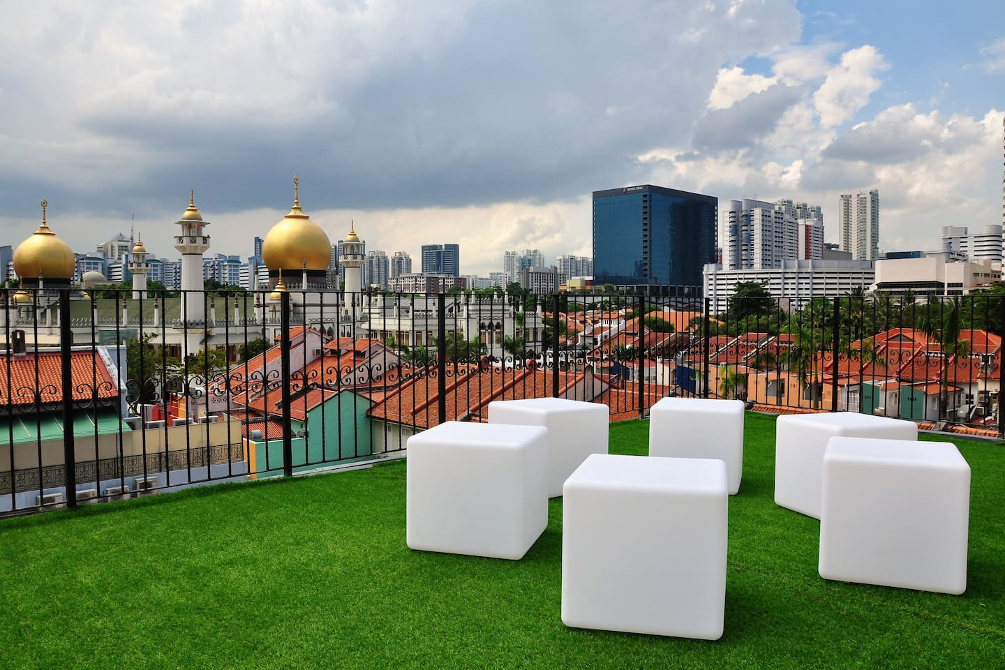 Rooftop offers a stunning panoramic view over Kampong Glam