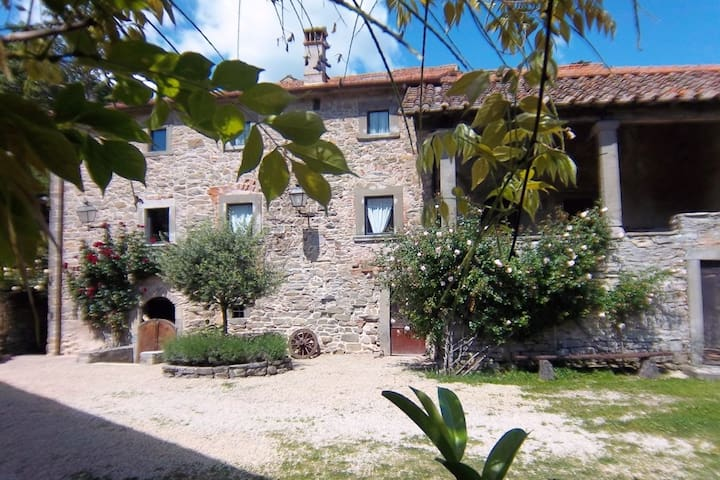 Apartment in the historic medieval village of Serignana with pool and garden