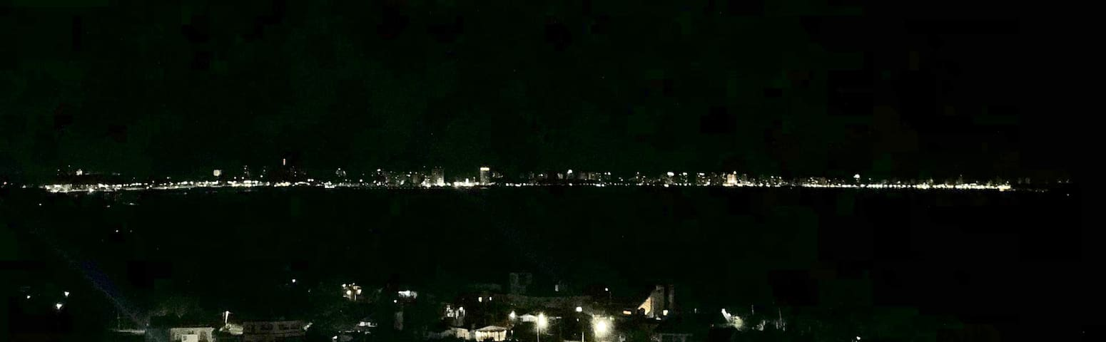 Vista desde nuestra terraza a Punta del Este.
