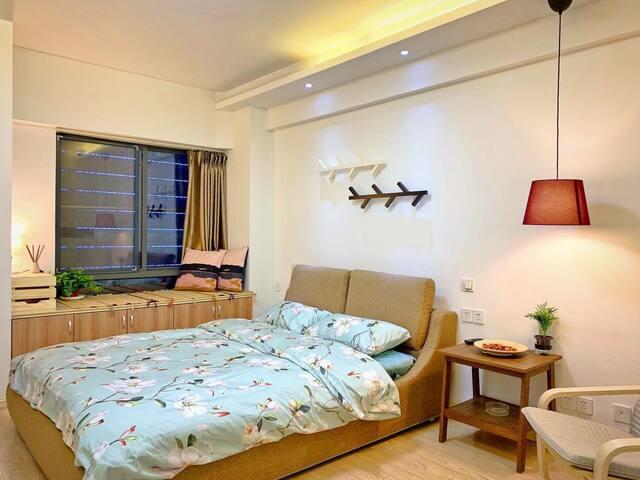 无锡新区、宝龙广场旁、融智大厦日式风公寓、可短租