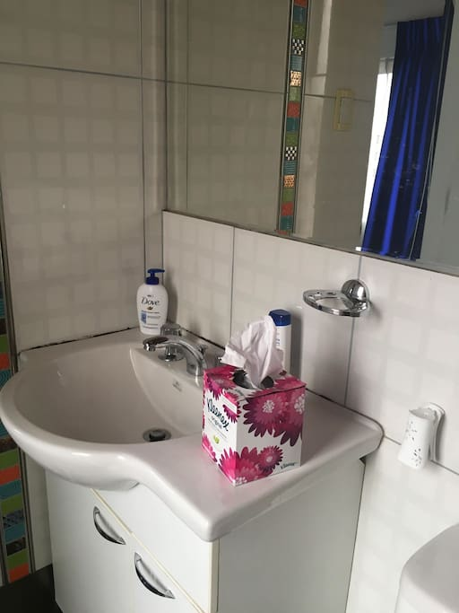 Bathroom comes with toiletries