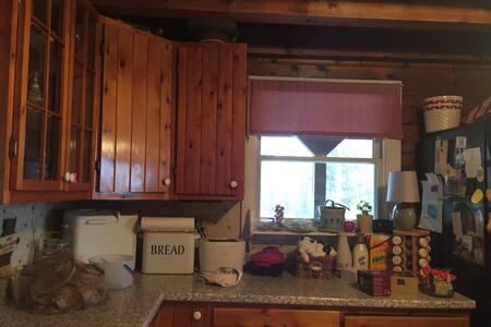 Cozy warm scenic log cabin ! - Parkman - Bed & Breakfast