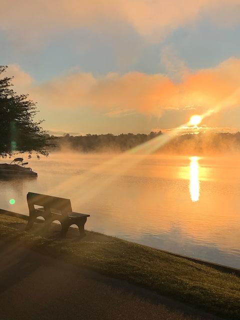 Der See, das gemütliche Ferienhaus, der Traum der Fischer!