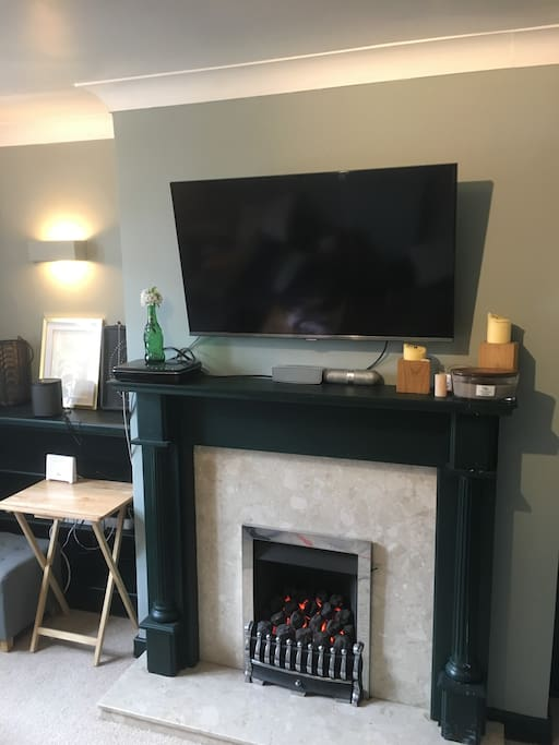 Cosy gas fire for those cooler nights