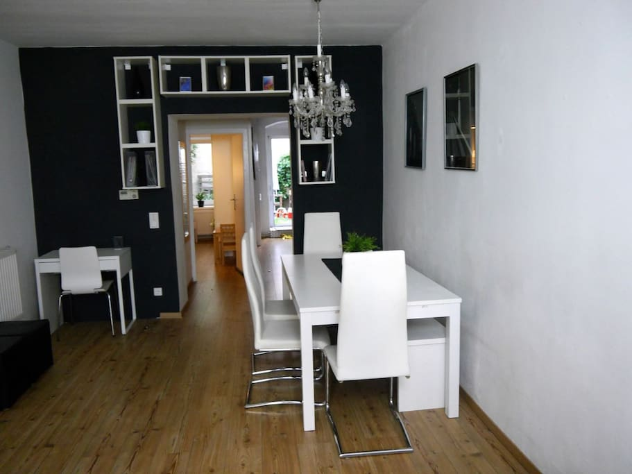 Dining area with work desk