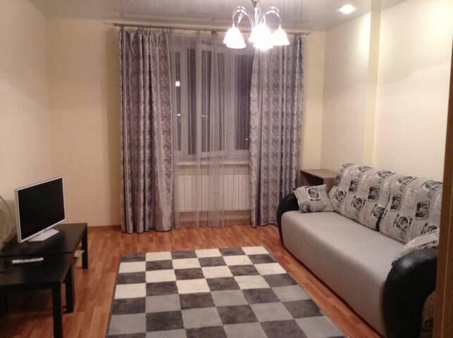 Светлая, уютная, просторная квартира в новом доме! - Kudrovo - Flat