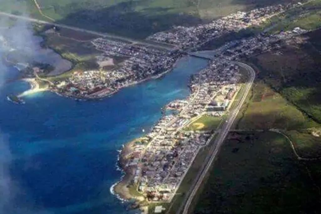 Aerial view of Boca de Camarioca