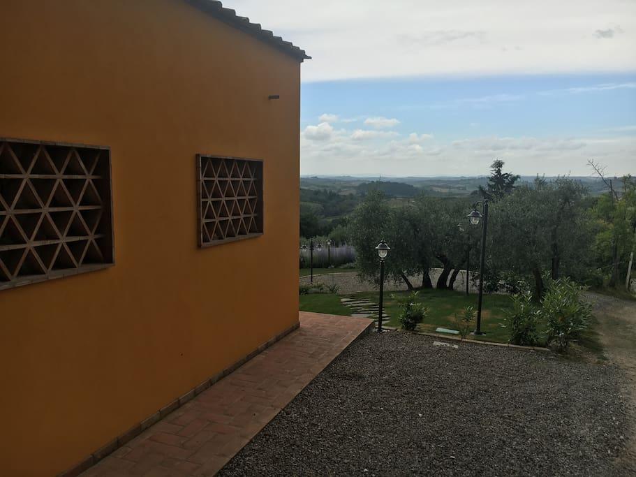 Una vista sulle colline toscane