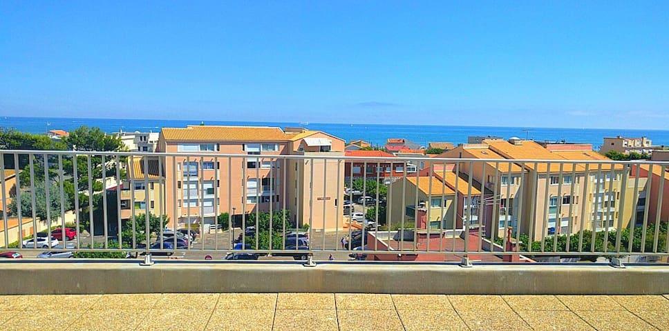 Superbe 55m² Tout confort à 2 min à pied la plage - Narbonne - Leilighet