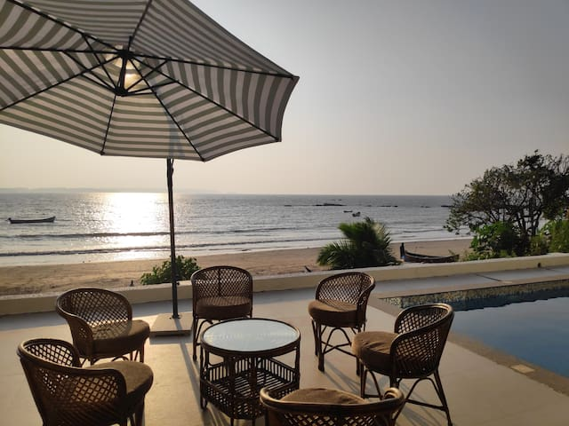 Goa Beach Villa with private pool and caretakers