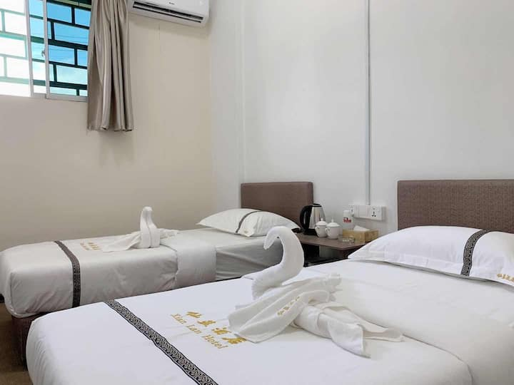仙蓝酒店公寓xianlan 标准双人房 独立浴室 包含早餐 位于仙本那镇上 中国人房东 可安排接送机