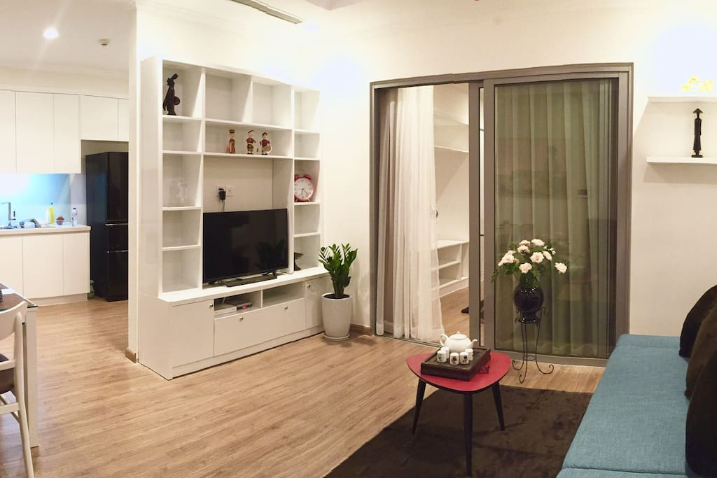 - Full size sofa - 2 way air-conditioners  Wooden floor