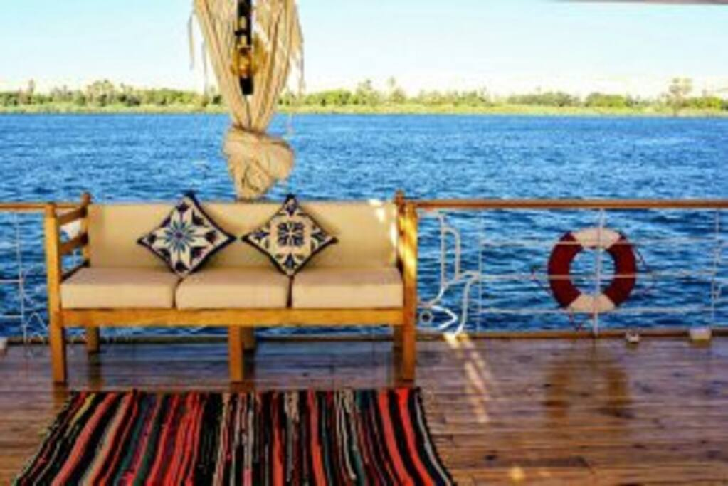 View of the Nile from the deck