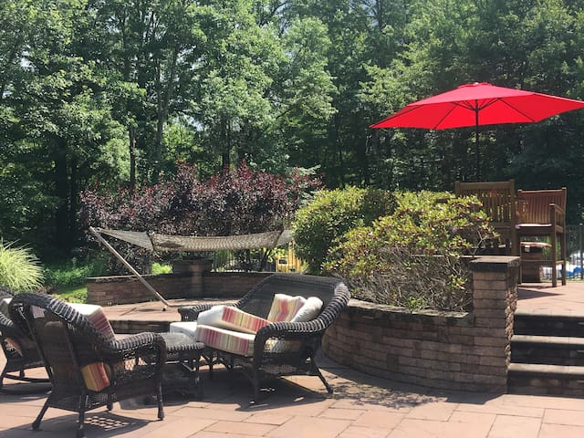 Outside Patio ( All furnishings are out in the summertime )