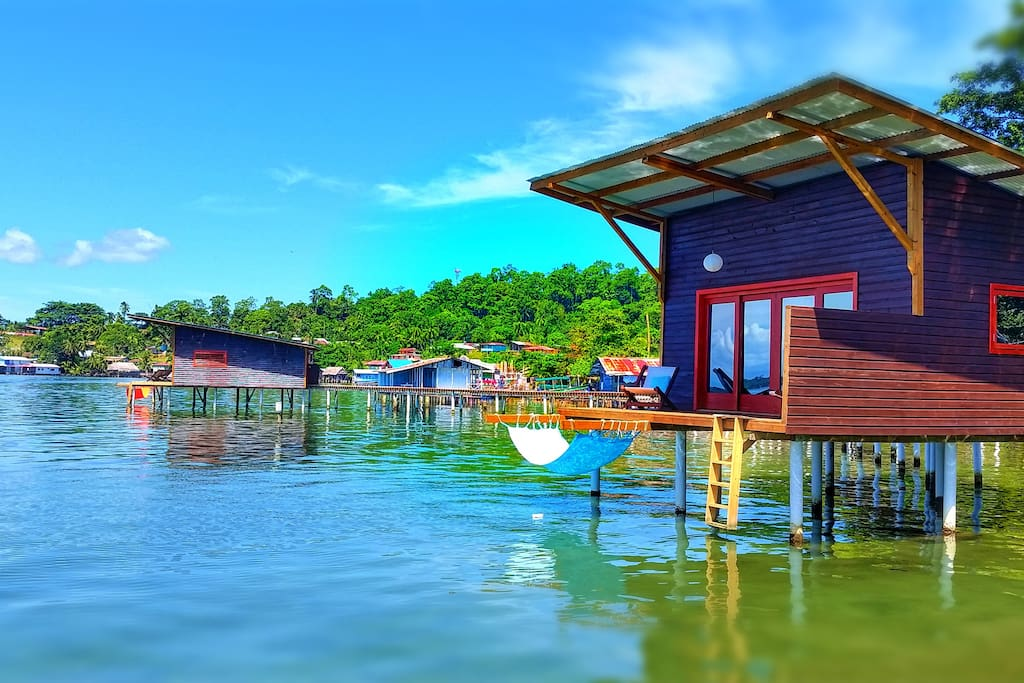 Bungalows from the water