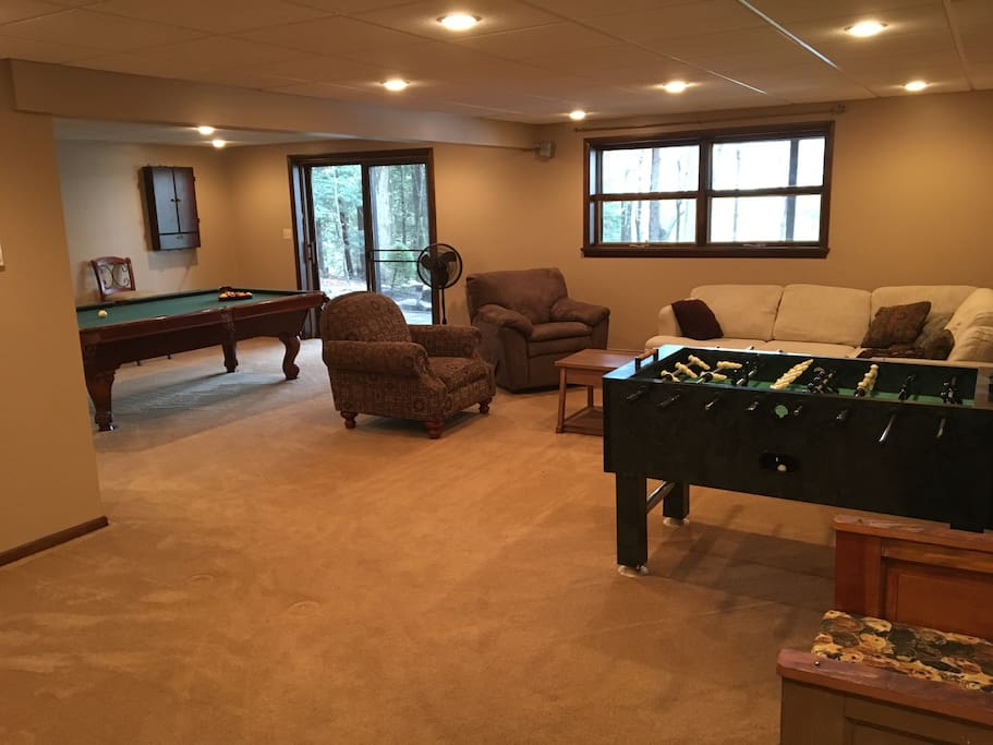 We got you covered even if the weather is not the best during your stay. Unlimited foseball, pool, and darts on the house.