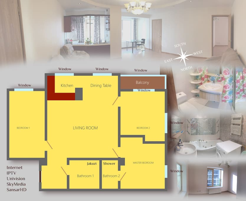 Plan picture of 3 bedrooms Apartment