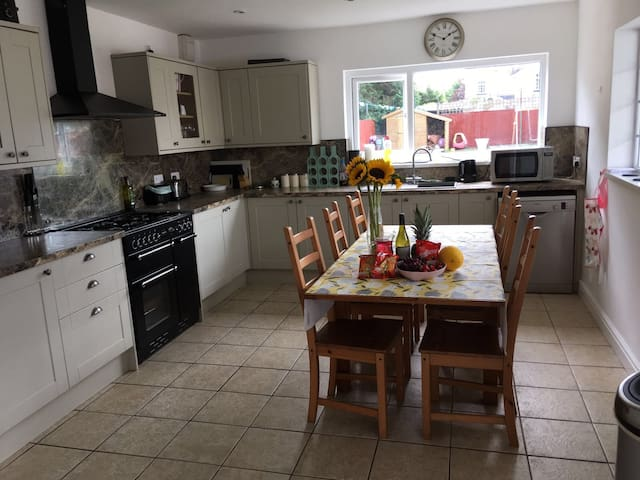 Lovely large family home close to M4. Dog friendly