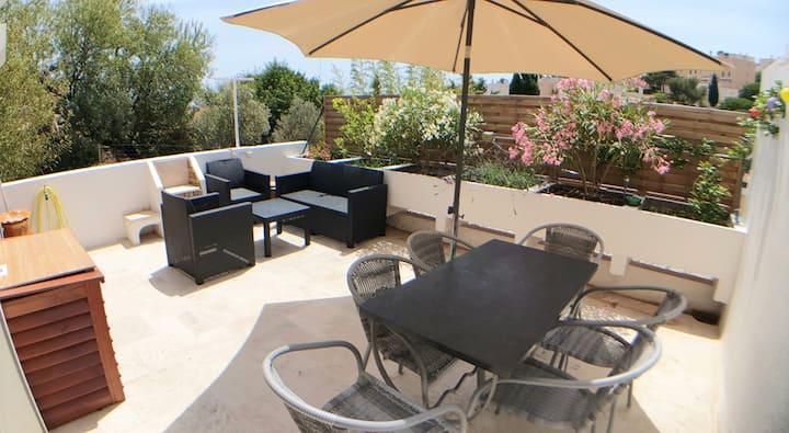 Duplex proche calanques 80m2 terrasse 3 chambres