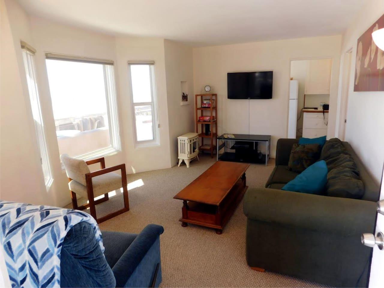 looking at living room from front door